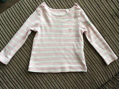 Joules Baby Girls Pink Striped Top 3-6 Months