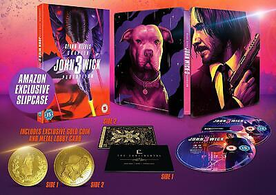 John Wick Chapter 3  4K And Blu Ray Exclusive To Amazon Ltd Steelbook ,Sealed.