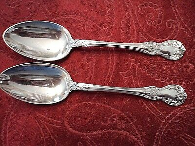 "2-Towle Old Master Sterling Teaspoons 5 7/8"" No Monogram"