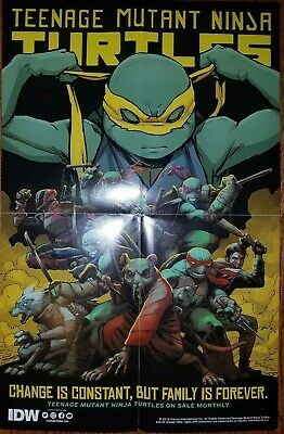 NYCC 2019 Exclusive IDW Teenage Mutant Ninja Turtles 11x17 Double Sided Poster