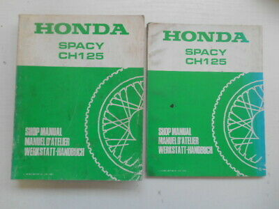 Manuel D'atelier Honda + Supplement Spacy Ch125 Ch 125