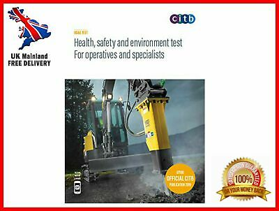 CSCS Card Test Book Health & Safety For Operatives And Specialists 2019 100/19