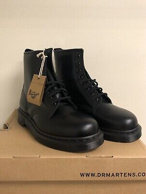 Dr. Martins 1460 Mono 8-eye Boots in Black 14353001 Smooth US M-9, US W-10