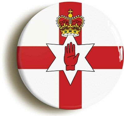 Radio Amateur//HAM Call Sign 59mm Button Badge Northern Ireland Union Flag