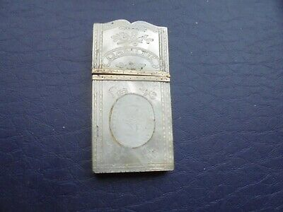 Antique   Mother Of Pearl Card Case    73