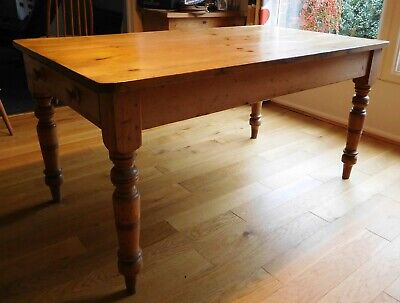 Genuine old pine farmhouse kitchen/dining table collect South Wilts