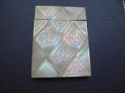Antique   Mother Of Pearl Card Case    76