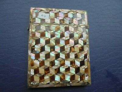 Antique   Mother Of Pearl Card Case    84