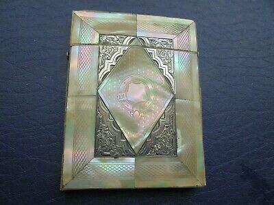 Antique   Mother Of Pearl Card Case    86