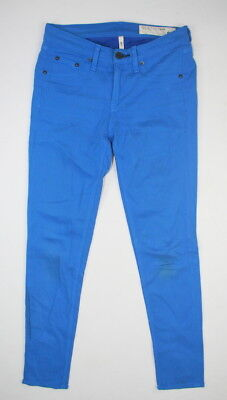 Rag & Bone Jean Liza Blue Cotton Skinny Capri Crop Pants 25 XS Short Ankle