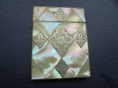 Antique   Mother Of Pearl Card Case    89