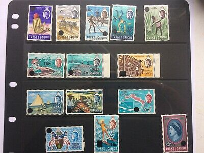 TURKS & CAICOS 1971 Definitives with overprint MNH