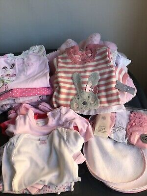 Large bundle of baby girls clothes 0 to 3 months, Mothercare, Next etc