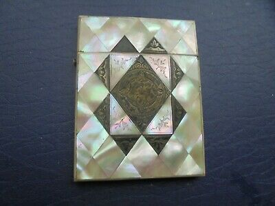 Antique   Mother Of Pearl Card Case    90