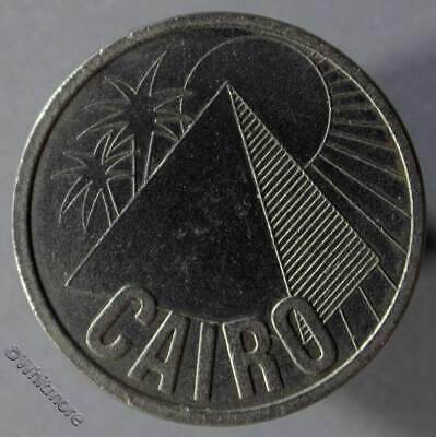 Egypt Cairo Medallion Pyramid & Palm Trees medal 26mm Cupro­nickel