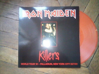 IRON MAIDEN Killers LP vinyl couleur Live Palladium New York 81