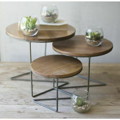 Round Wire Nesting Risers, Set of 3