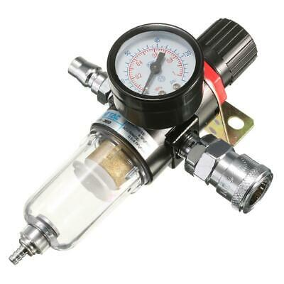 "1/4"" Air Compressor Filter Oil Water Separator Regulator Lubricator Gauge Tool"
