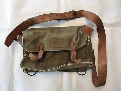 Vintage French Military Clermont Ferrand  Smoke Grenade Pouch-Rare-Free Shipping