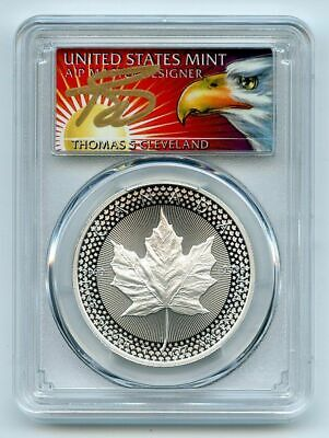 2019 Canada Modified Proof Silver Maple Leaf PCGS PR70 THOMAS CLEVELAND SIGNED