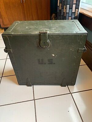 Us Army - Original WWII Military Field Desk Portable Field Operations 1944