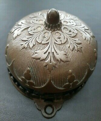 Antique Victorian Eastlake Door Bell Works Rings  Beautiful Brass Cover 1872