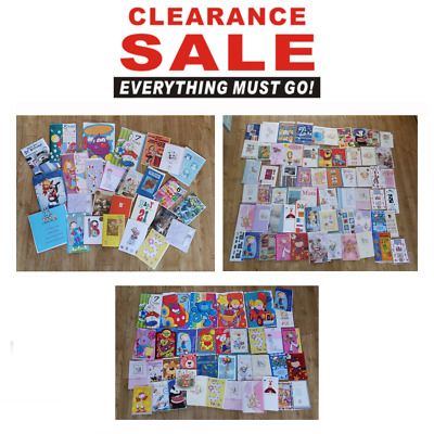 *Sale*  Joblot Of Assorted Birthday Greeting Cards  Clearance Bundle All New