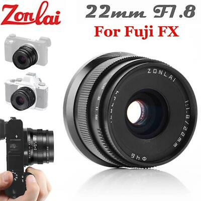 Zonlai 22mm f1.8 Large Aperture Ultra Wide Angle Lens For Fuji FX Mirrorless DT
