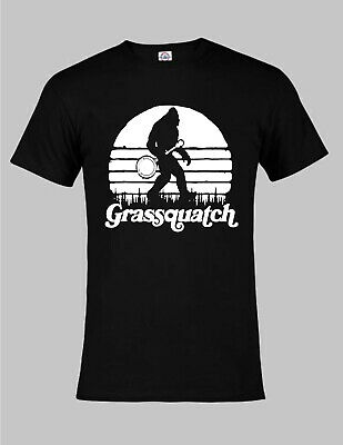 Grassquatch ~ Bigfoot Bluegrass Banjo Tee   Unisex Fit & 4 Color Choices