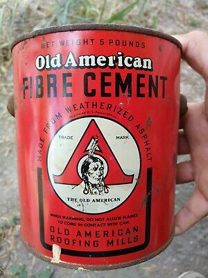 Vintage Old American Fibre Cement Oil Can !!!