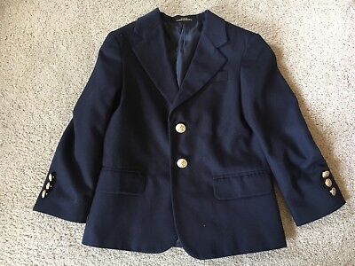 George Boys Classic Suit Dark Blue Gold Buttons Fancy Cool Classic Long Sleeve 4
