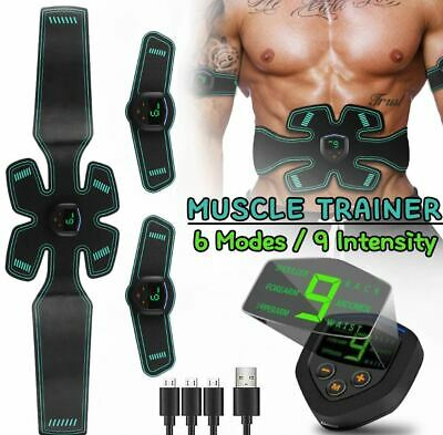 NEW Muscle Stimulator SixPack Pad Front Side Abdominal Trainer Belt EMS Recharge