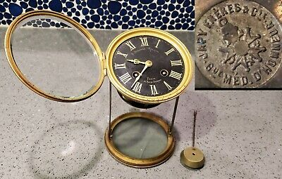 Antique Japy Freres French Neoclassical Mantel Clock Movement by Japy Freres