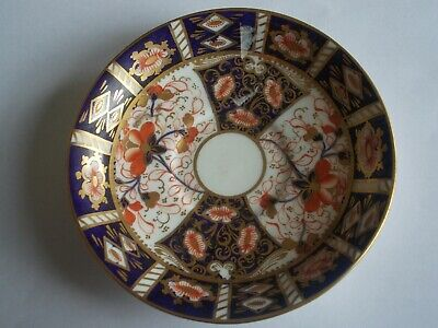 Fine Davenport Longport Staffs Antique Imari 2614 Hand Painted and Gilded Saucer