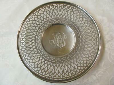 Vintage Meriden Britannia Sterling Silver Footed Caked Plate
