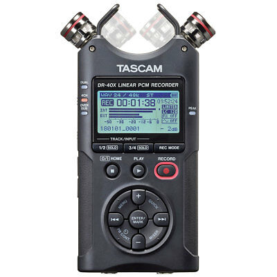Tascam DR-40X Stereo Recorder Dictaphone with Interface Function