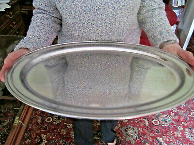 Old Antique Large Silver Plated Turkey Meat Platter Tray English c1920