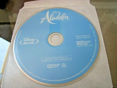 ALADDIN BLU-RAY Disc only WILL SMITH FREE shipping Never viewed