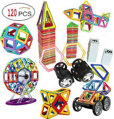120 Piece Magnetic Tiles magnetic Building Blocks Toys for Kids, New, Gift Fun