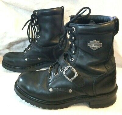 Harley Davidson Men's Motorcycle Boots Faded Glory 91003 Black Leather Size 9.5