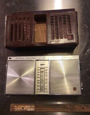 National Panasonic Transistor Radio Model R-355 Leather Case As Is Read Listing