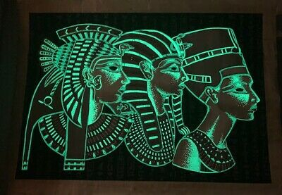 """Egyptian Papyrus Glow in The Dark Size 12"""" X 17"""" = A 3 High Quality, Certificate"""