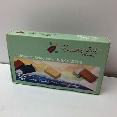 Encaustic Art Wax 16 Wax Block Colors Enrichment Selection New in Box Painting