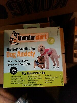 THUNDERSHIRT for Dogs RELIEVES STRESS & ANXIETY BLUE XS Brand new