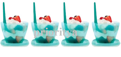 Tupperware Refrigerator Bowls with Hang On Spoons Set of 4 New in Package