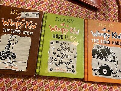 DIARY OF A WIMPY KID BOOK SERIES LOT Set JEFF KINNEY DOUBLE DOWN