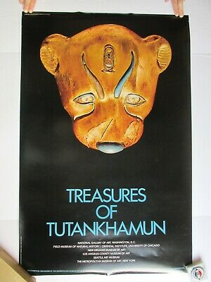 Treasures of Tutankhamun Poster - Leopard's Head (Met. Museum of Art, 1976)