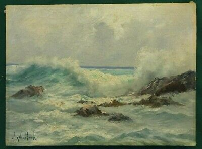 Oil on Canvas Bermuda Painting - Seascape - Smiths Parish - Joseph Monk c1930s