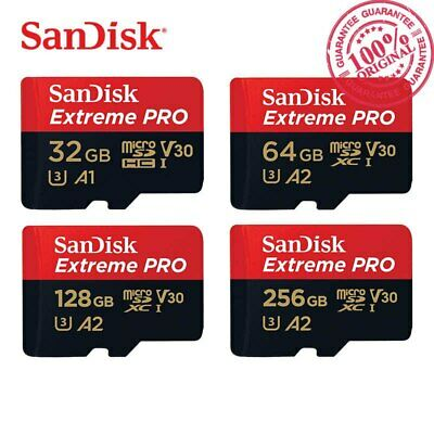 SanDisk Extreme Pro 32/64/128GB Micro SD SDXC Class10 UHS-I 95MB/S 4K U3 SD Card
