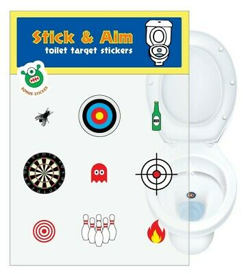 Toilet Target Stickers for Cleaner Toilets (Toilet Training)